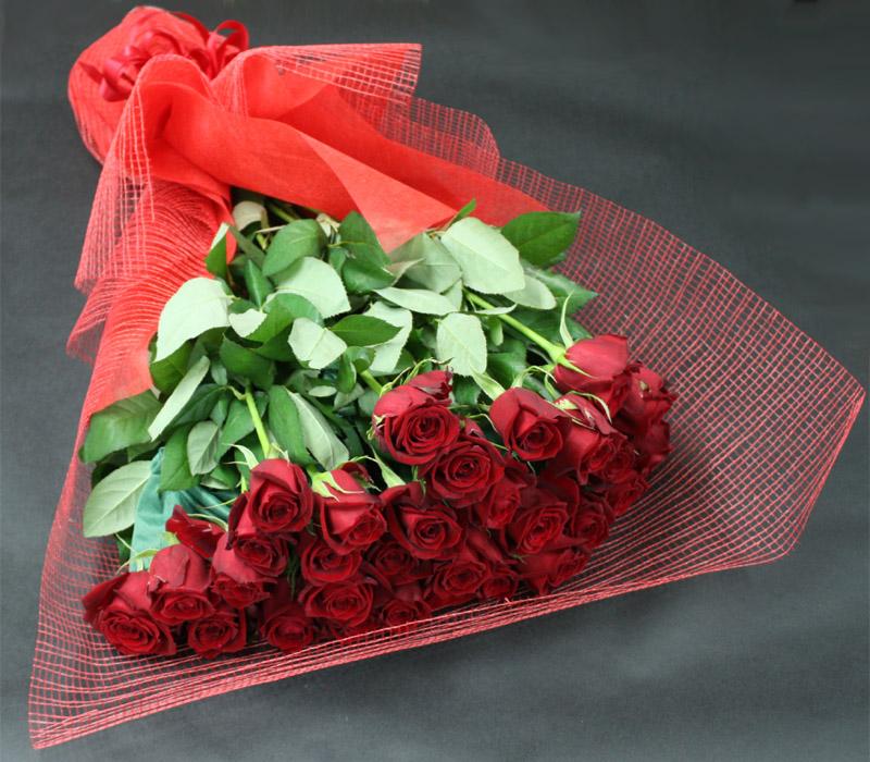 真紅バラの大きな花束 BQ-005