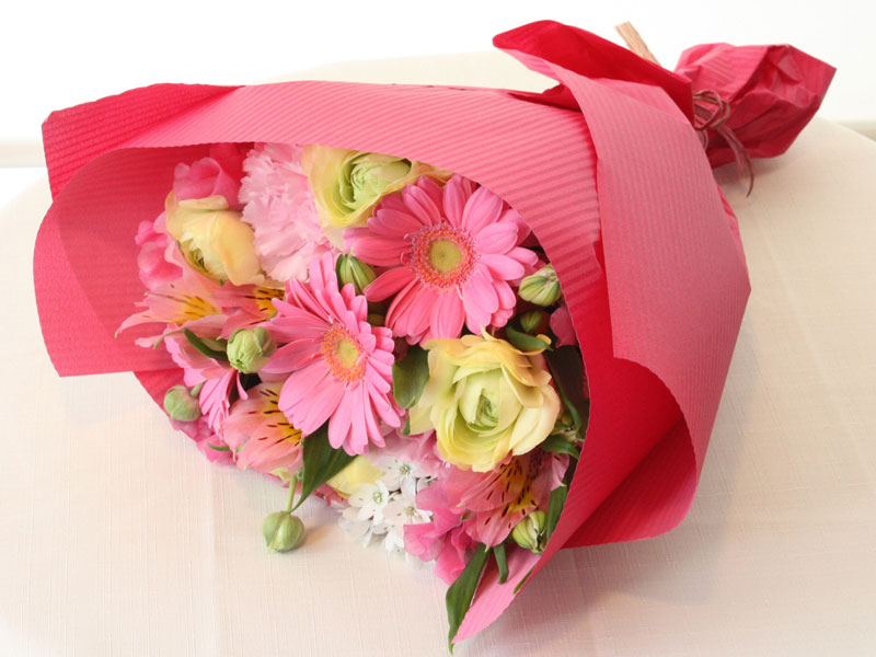 ピンクのブーケ BQ-022